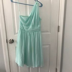 One Shoulder Light blue dress